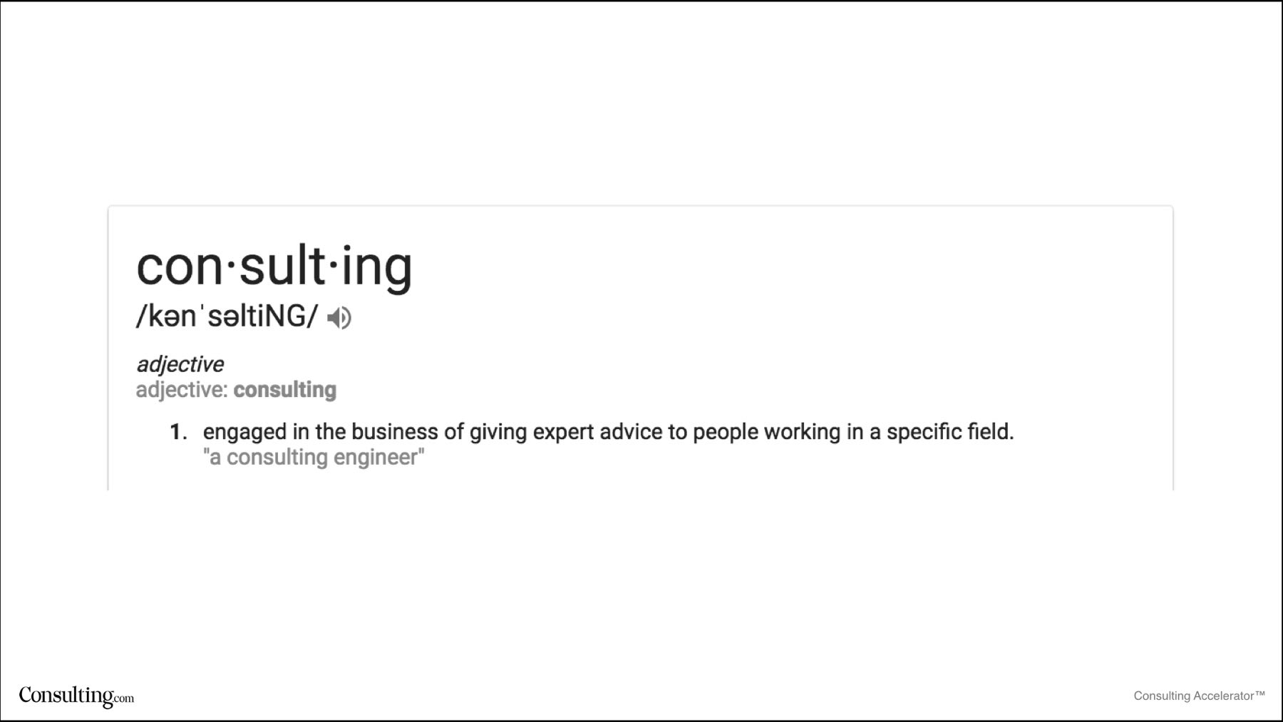 Consulting Definition
